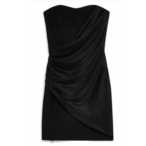Topshop Black Strapless Dress